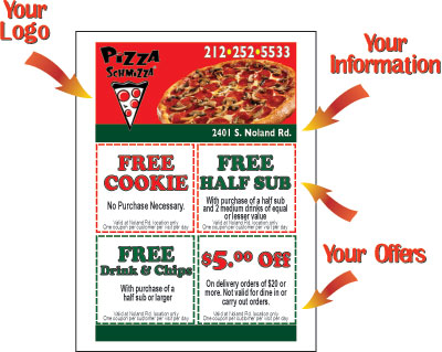 Pack The Pizza Sticky Note Flyer Design  Pizza Notes